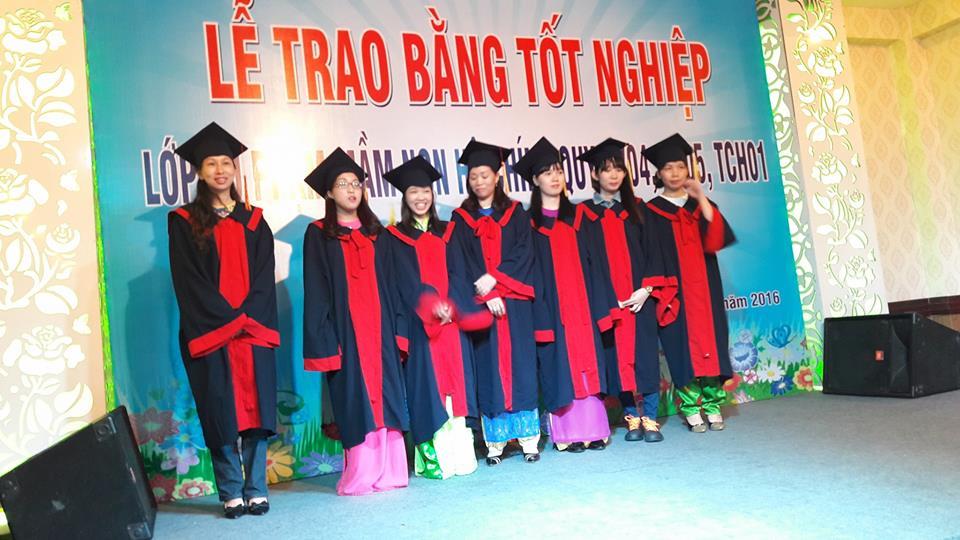 Lễ tốt nghiệp Lớp Trung cấp Sư phạm mầm non tại TP.HCM năm 2016